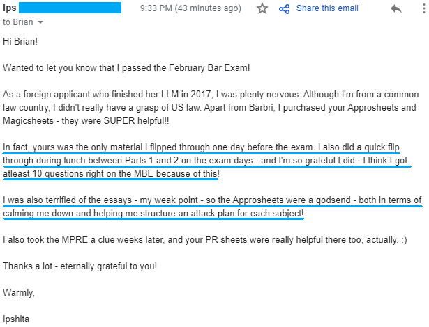"""""""I was also terrified of the essays - my weak point - so the Approsheets were a godsend - both in terms of calming me down and helping me structure an attack plan for each subject!"""""""