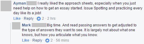 """Approsheets can help you with """"how to get an essay started"""" and """"issue spotting and practicing"""""""