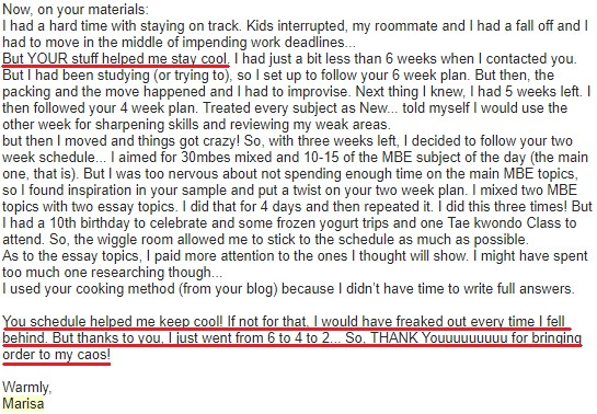 """""""You schedule helped me keep cool! If not for that, I would have freaked out every time I fell behind."""""""