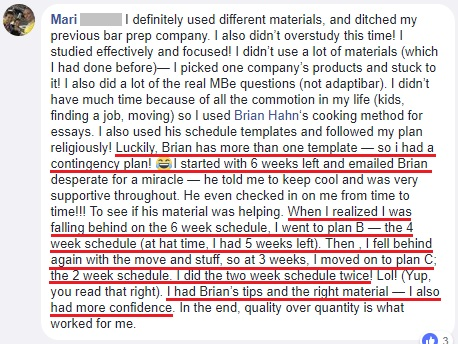 """""""I had Brian's tips and the right material . . . I also had more confidence."""""""