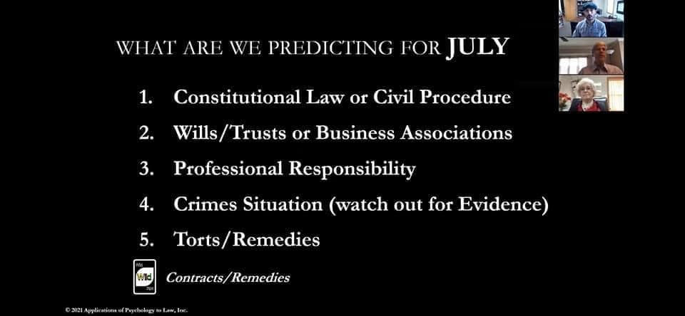 What are we predicting for July